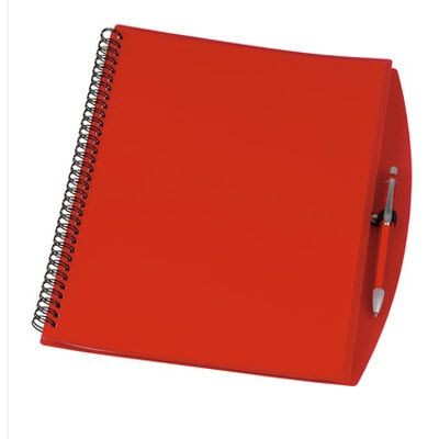 Picture of A4 SPIRAL WIRO BOUND NOTE BOOK in Clear Transparent Red