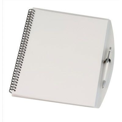 Picture of A4 SPIRAL WIRO BOUND NOTE BOOK in Clear Transparent White