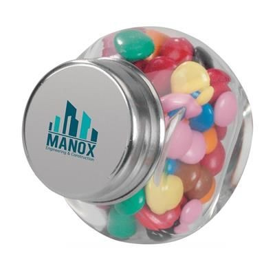 Picture of MINI GLASS CANDY JAR in White
