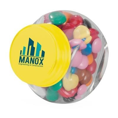Picture of MINI GLASS CANDY JAR in Yellow