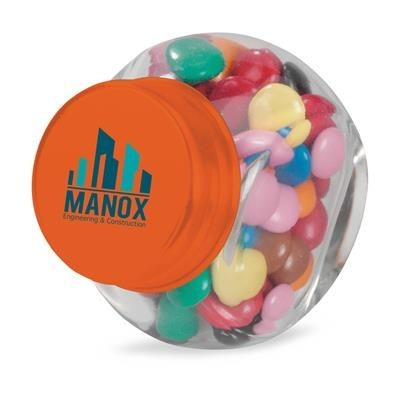 Picture of MINI GLASS CANDY JAR in Orange