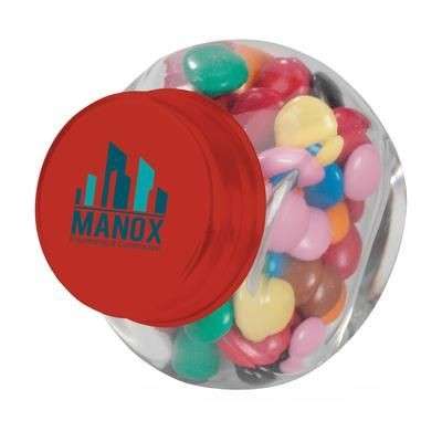 Picture of MINI GLASS CANDY JAR in Red