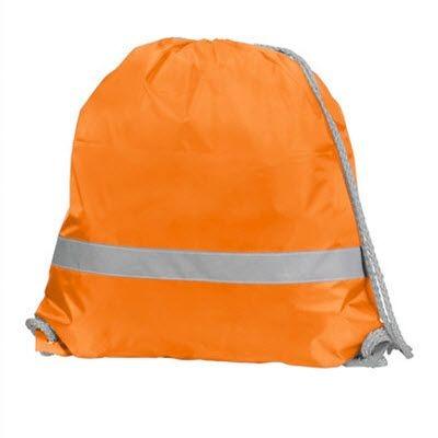 Picture of SAFE BAG DRAWSTRING BACKPACK RUCKSACK in Neon Fluorescent Orange