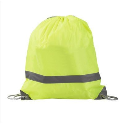 Picture of SAFE BAG DRAWSTRING BACKPACK RUCKSACK in Neon Fluorescent Yellow