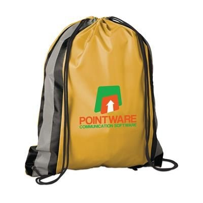 Picture of PROMO LINE DRAWSTRING BAG in Yellow