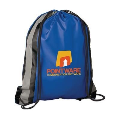 Picture of PROMO LINE DRAWSTRING BAG in Blue