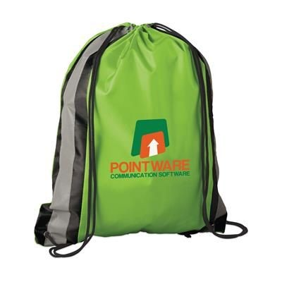 Picture of PROMO LINE DRAWSTRING BAG in Lime