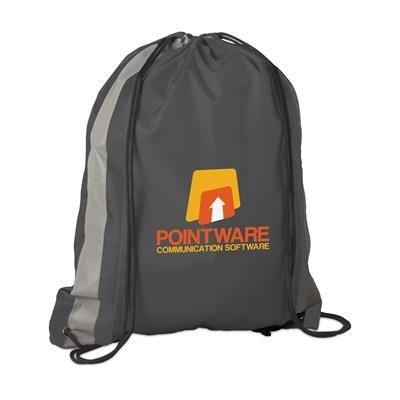 Picture of PROMO LINE DRAWSTRING BAG in Black