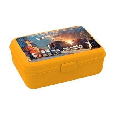 Picture of SCHOOL BOX DELUXE LUNCH BOX in Yellow