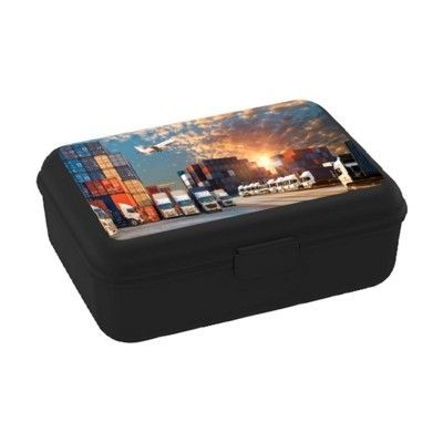 Picture of SCHOOL BOX DELUXE LUNCH BOX in Black