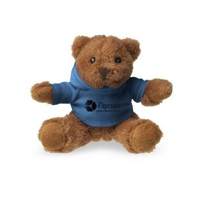 Picture of HOODED HOODY BEAR SOFT TOY in Blue