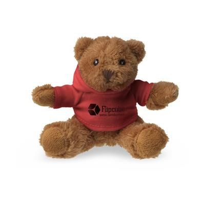 Picture of HOODED HOODY BEAR SOFT TOY in Red