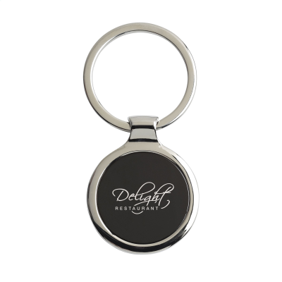 Picture of KEYTAG CIRCLE KEYRING in Black