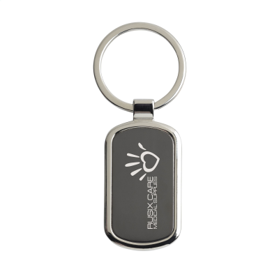 Picture of KEYTAG RECTANGULAR KEYRING in Black
