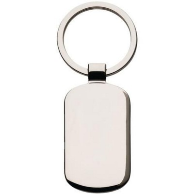 Picture of KEY TAG RECTANGULAR KEYRING in Black