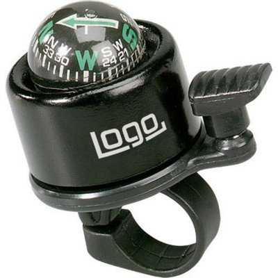 Picture of DIRECTION BICYCLE BELL & COMPASS in Black