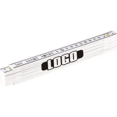 Picture of METRIC FOLDING RULER in White
