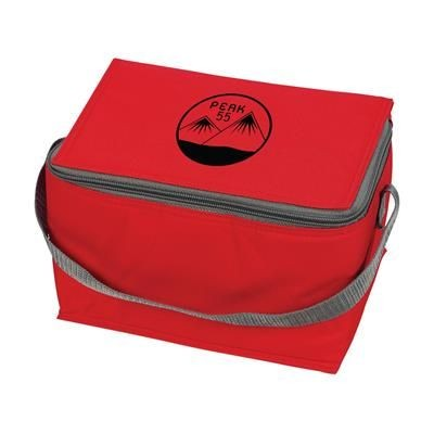Picture of ICEBOX 600D POLYESTER COOL BAG in Red