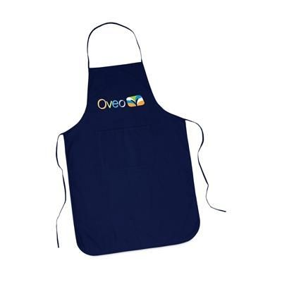 Picture of COTTON APRON with Pocket in Blue