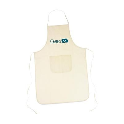 Picture of COTTON APRON with Pocket in Beige