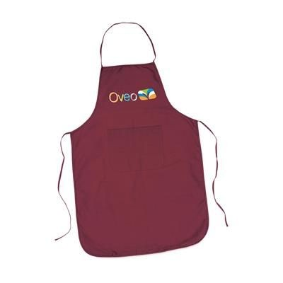 Picture of COTTON APRON with Pocket in Burgundy