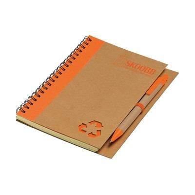 Picture of RECYCLE NOTE-L NOTE BOOK in Orange