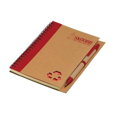 Picture of RECYCLE NOTE-L NOTE BOOK in Red