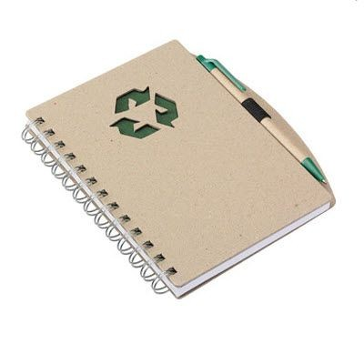 Picture of ECO NOTE BOOK in Green