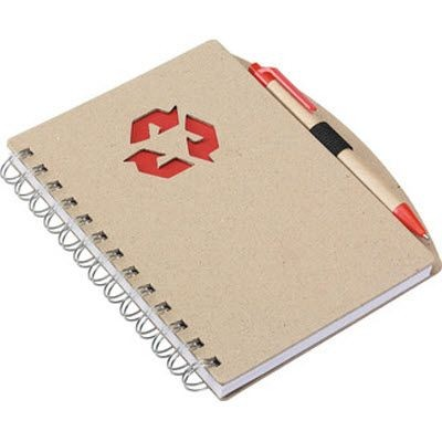 Picture of ECO NOTE BOOK in Red