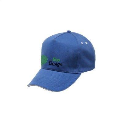 Picture of REGATTA STANDOUT AMSTON 5 PANEL CAP in Blue & White