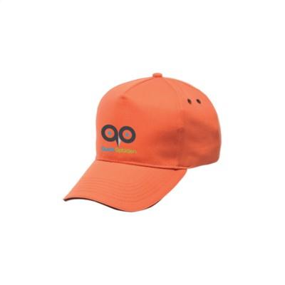 Picture of REGATTA STANDOUT AMSTON 5 PANEL CAP in Orange & Black