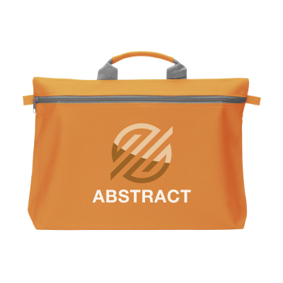 Picture of DOCUTRAVEL DOCUMENT BAG in Orange