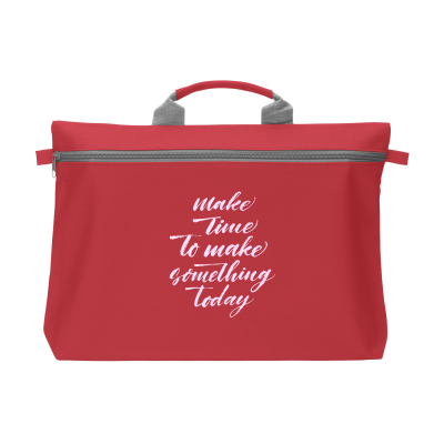 Picture of DOCUTRAVEL DOCUMENT BAG in Red