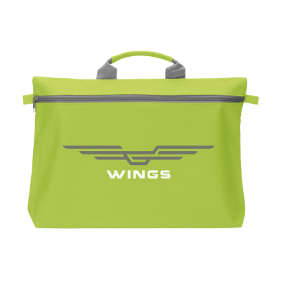 Picture of DOCUTRAVEL DOCUMENT BAG in Lime