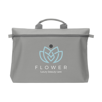 Picture of DOCUTRAVEL DOCUMENT BAG in Grey