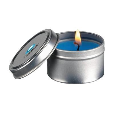 Picture of FRAGRANCE CANDLE TIN in Blue