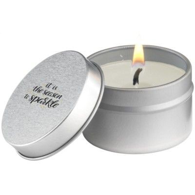 Picture of CANDLETIN FRAGRANCE CANDLE in White & Vanilla