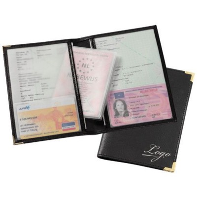 Picture of CAR DOCUMENT WALLET in Black