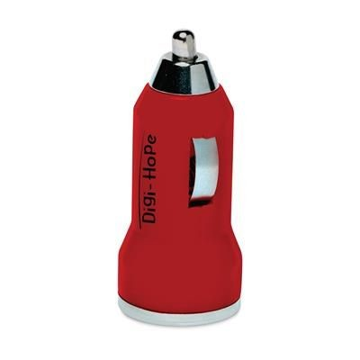 Picture of DUAL USB CAR CHARGER in Red