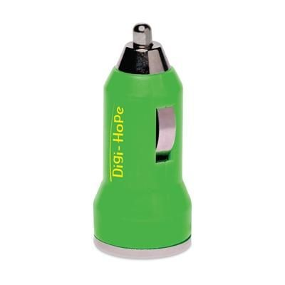 Picture of DUAL USB CAR CHARGER in Green