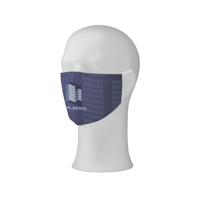 Picture of COMFY FACE MASK FULL COLOUR FACE COVERING in White