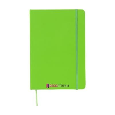 Picture of NEON FLUORESCENT NOTES A5 NOTE BOOK in Neon Fluorescent Green