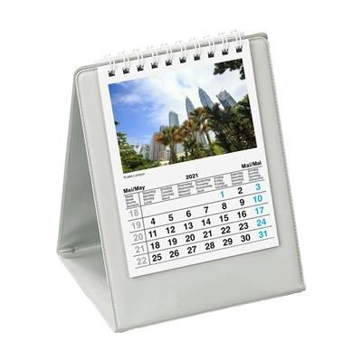 Picture of DESK CALENDAR SKYLINE in Grey