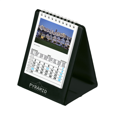 Picture of DESK CALENDAR SKYLINE in Black