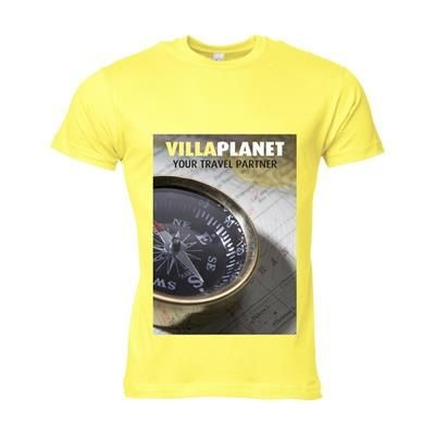 Picture of SOLS CALIFORNIA TEE SHIRT MENS in Yellow