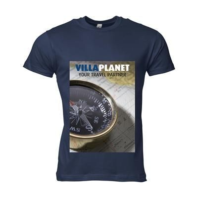 Picture of SOLS CALIFORNIA TEE SHIRT MENS in Navy