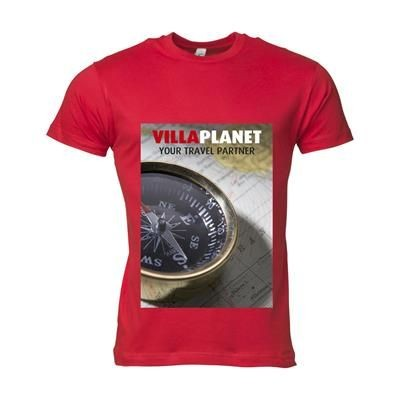Picture of SOLS CALIFORNIA TEE SHIRT MENS in Red