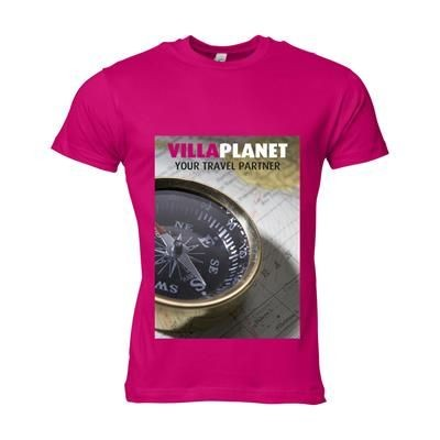 Picture of SOLS CALIFORNIA TEE SHIRT MENS in Fuchsia