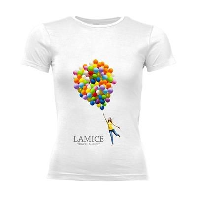 Picture of SOLS CALIFORNIA TEE SHIRT LADIES in White