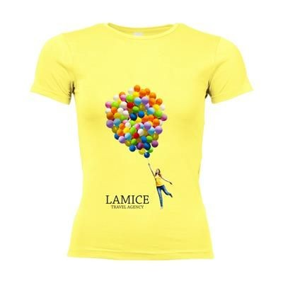 Picture of SOLS CALIFORNIA TEE SHIRT LADIES in Yellow